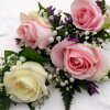 W118 - Buttonholes Rose, Gypsophila and Limonium